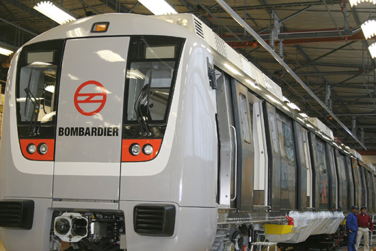 Delhi Metro Rail Corporation (DMRC) has placed a large order with Bombardier
