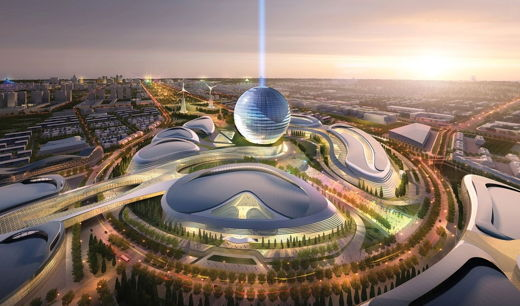 President visits construction site of Astana EXPO - 2017