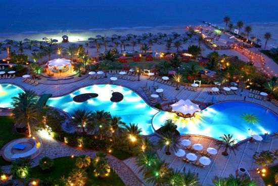 Luxury beach resort in the UAE