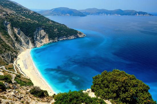 Myrtos Beach: Magical Colors of Water