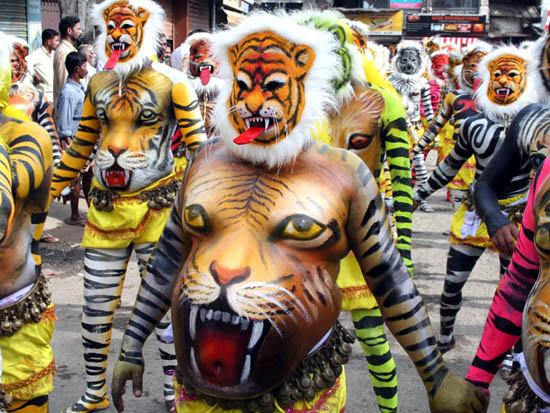 Onam Pulikali Tiger Play