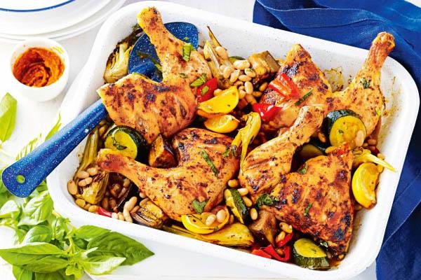 Spring chicken traybake