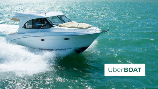 Uber Launches an Intercontinental water taxi Service