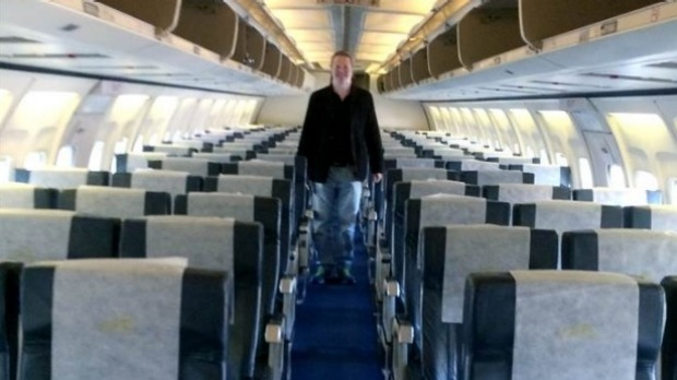Nigel Short enjoying as the only passenger on Air Zimbabwe f