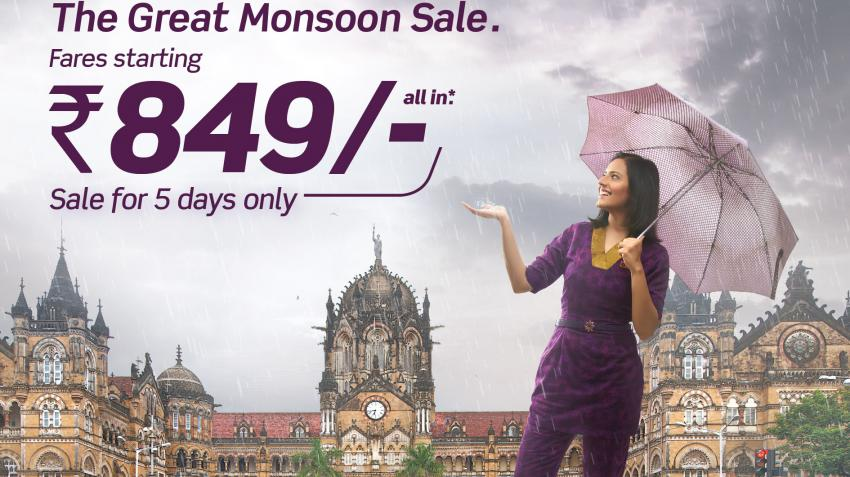 Vistara announces The Great Monsoon Sale with Lowest fares
