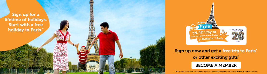 Club Mahindra Holidays -3N/4D Paris Offer