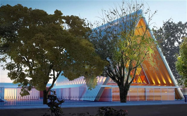Cardboard Cathedral opens in Christchurch