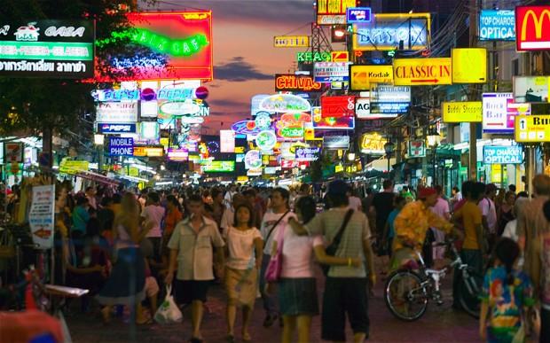 Thailand most popular  destination for gap years