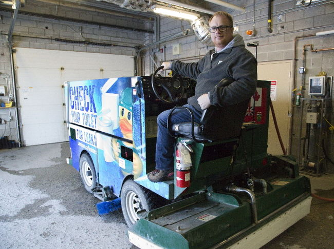Londoner Art Johnston get a chance to clean Olympic ice twic