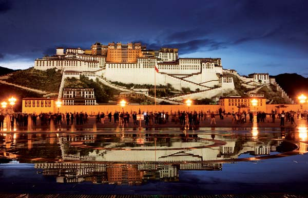 The Potala Palace in Lhas