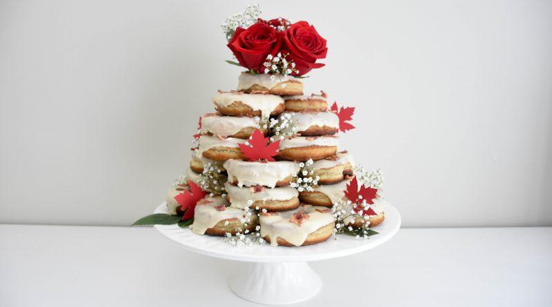 Doughnuts on a Doughnut Cake