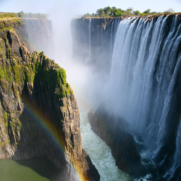 Most beautiful waterfall Victoria Falls in Zambia