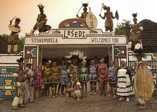Lesedi main entrance