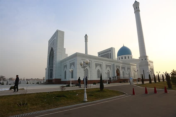 white Minor mosque in Tashkent