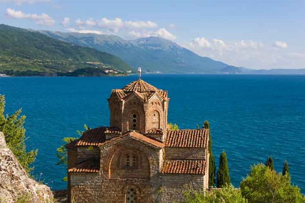 Church on the shores of Lake Ohrid,