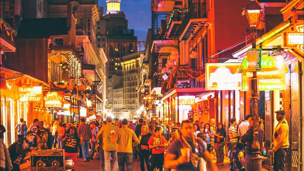 Bourbon Street - New Orleans, Louisiana, USA