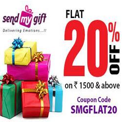 Flat 20% Off At Sendmygift