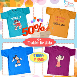 Flat 50% Off On T-Shirt For Kids At Momandbaby