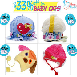 Flat 33% Off On Baby Caps At Momandbaby