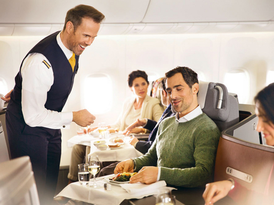 Lufthansa rolls out new business class meal service