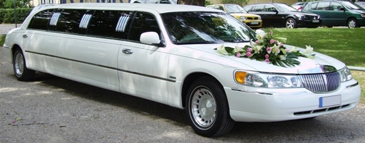 Romantic Limo Services on this Wedding Day.