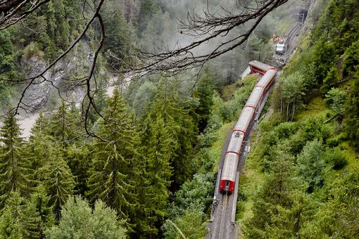 Swiss train derails near tourist town of St Moritz