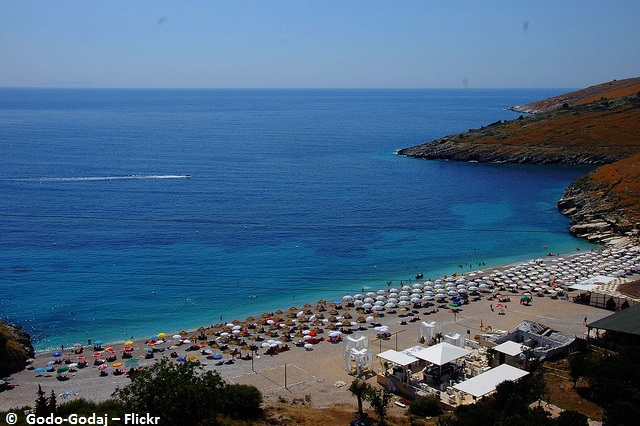 The Steep coastline Albanian Riviera