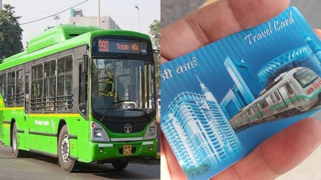METRO CARD IS VALID FOR TRAVEL IN DTC BUSES IN DELHI, INDIA