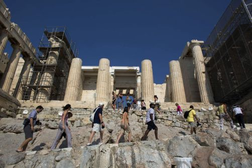 International visitors travelling to Greece by air recorded