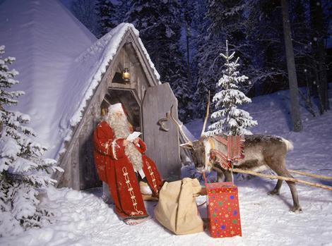 Santa Claus Village at the Arctic Circle in Rovaniemi in Lap