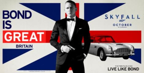 VisitBritain puts 007 at heart of latest tourism campaign