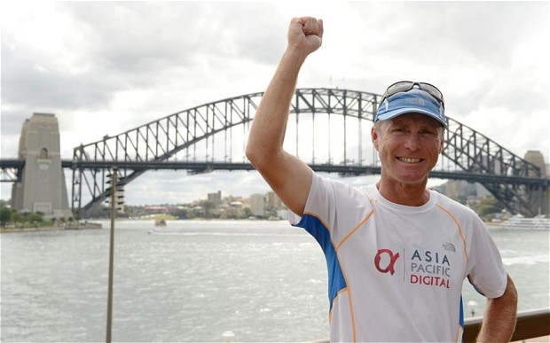 Sydney runner becomes fastest man to circle globe on foot