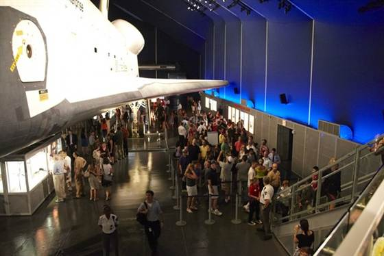 Space shuttle Enterprise exhibit reopens to awed NY crowds
