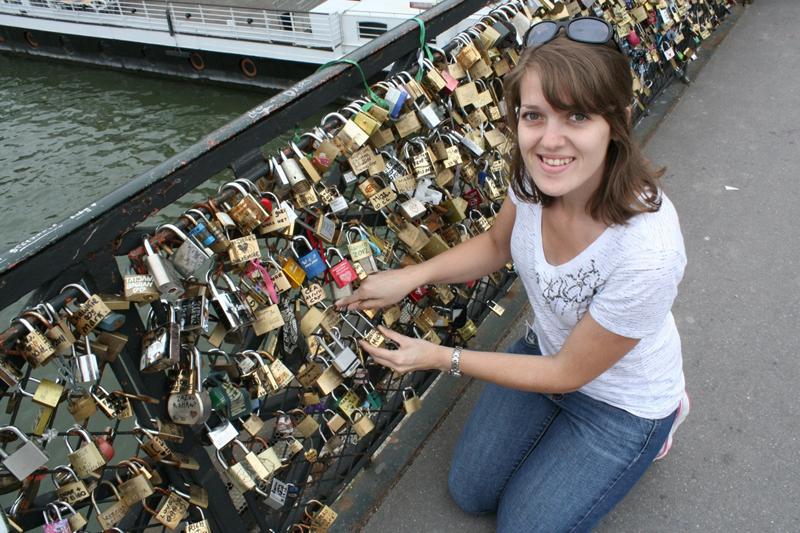 Lovers Bridge in Paris