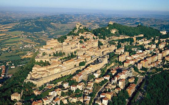 Vedutaaerea the San Marino