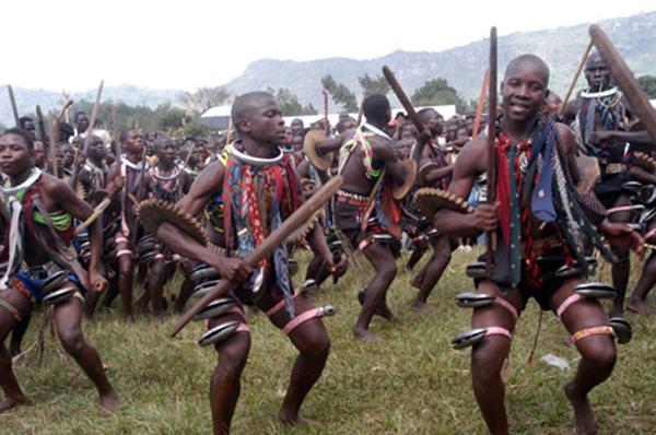 Men dance at Mutoto Cultural Grounds