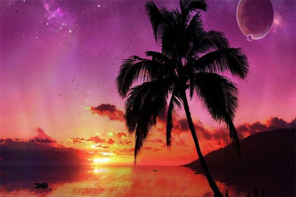 Sunset at Mayotte Island
