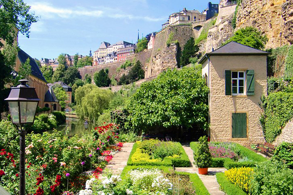 The Walls of the Corniche Luxembourg City