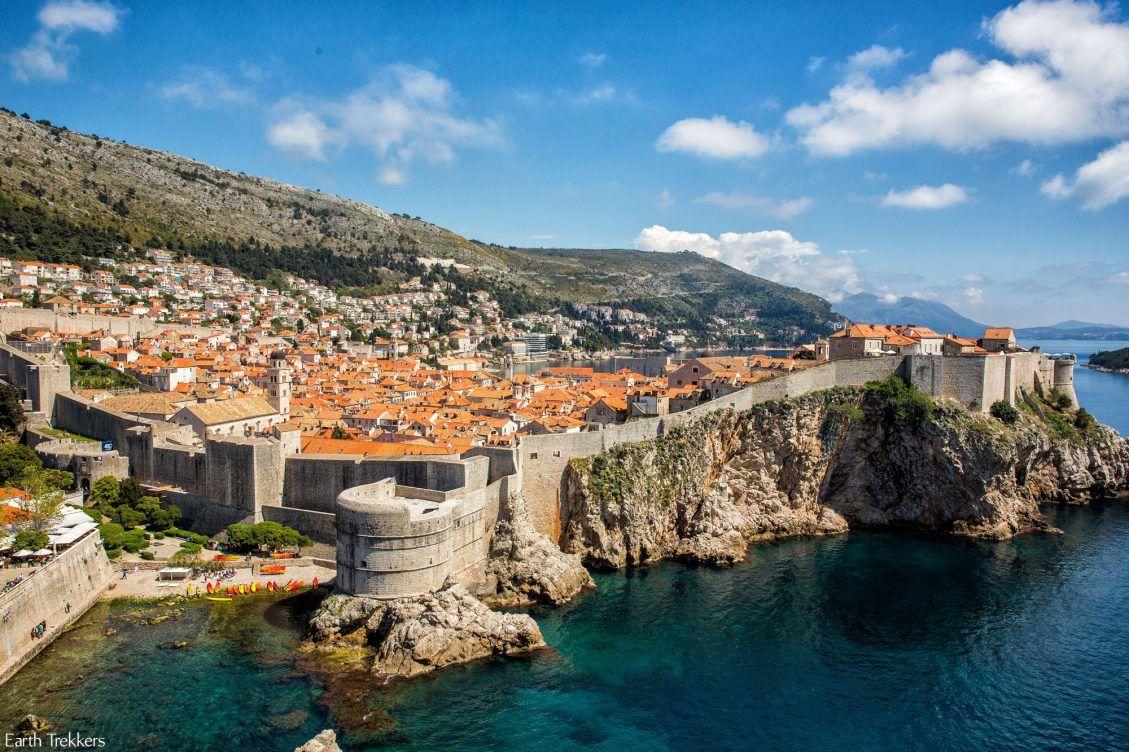 Dubrovnik seen from highway